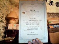 Feux et signaux de brumes. Série C Manche, océan Atlantique Est 1954 + fascicule