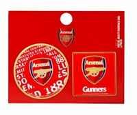 Official Arsenal F.C. Football Club Multi Surface Metal Sign (2PK)