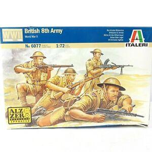 ITALERI 1/72 Scale World War II British 8th Army 6077 Model Kit 50 Figures New