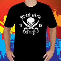 New Metal Blade Records Logo Heavy Metal Music Men's Black T-Shirt Size S to 3XL