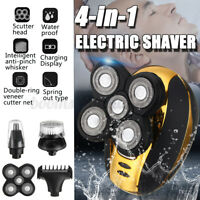 5 Head 4In1 Electric Rechargeable Cordless 3D Hair Shaver Razor Clipper Trimmer