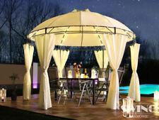 """LED Luxus Pavillon """"Lavo"""" Ø 350cm Gartenpavillion Partyzelt Pavillion"""