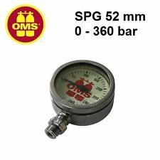 "OMS SPG 52 mm, mineral glass, nickel finishing, ""OMS"" 0-360 bar Gauges"