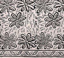 2.5 Yards Cotton Floral Hand Block Print Natural Dyed Sanganeri Fabric Indian