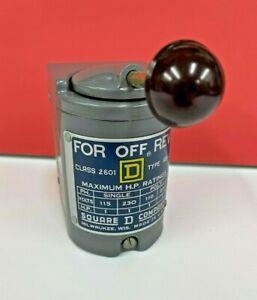 Square D Reversing Drum Switch 1HP NEMA Type 1 Enclosure 2601AG3 2601-AG3 NEW