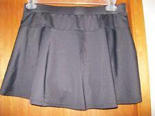 AMOENA size 16 black 13 inch swim skirt bottom with pants