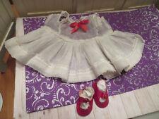 "Vintage Arranbee R&B Littlest Angel Doll 11"" Organdy dress-red leatherette shoes"