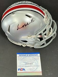 Garrett Wilson Signed Autographed Ohio State Buckeyes Mini Helmet Psa/Dna