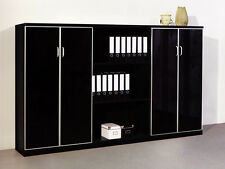 Aktenschrank JourTym Bologna Schwarz Büroschrank Sideboard Aktenregal Büromöbel