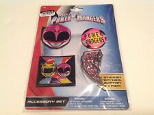 Sabans Power Rangers Accessory Set 2 Sticker Patches,1 Button 1 Pin New - S