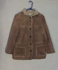Z8271 Women's Deerskin Trading Post Deerskin Sherpa Coat-No tag size