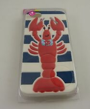 for Iphone 5  phone case red lobster blue white stripes fits i phone 5