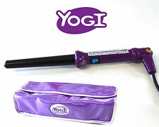 Yogi Cristal incrustado Berenjena Pelo Rizado Varita Pinzas 18-25mm Barril Guante