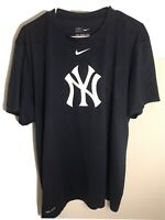 Nike Dri-Fit New York Yankees Logo T-Shirt MLB Navy Blue Size XL Athletic Cut
