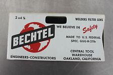 Vintage Bechtel T12 Welders Filter Lens 2 X 4 14 Replacement Nos