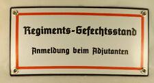 De qualité Emaill Plaque Poste de commandement de régiment Commandant Bunker
