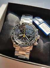 NEW WITH TAGS SEIKO SNA411P1 Flightmaster Quartz Chronograph 200m