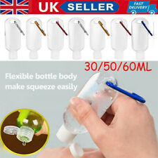 30/50/60ML Small Travel Container for Liquids With Keyring Empty Plastic Bottles