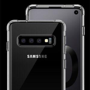 Étui pour Samsung Galaxy S10 Plus S10e S10 S9 S8 Antichoc Transparent Silicone