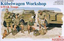 Dragon 1/35 6338 WWII German Kubelwagen Workshop w/DAK Troops (w/4 Figures)