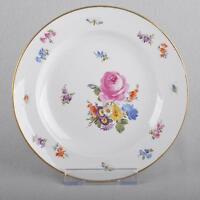 Meissen Blumen & Insekten, Kuchenteller Dessert Teller, 18 cm, 1.Wahl