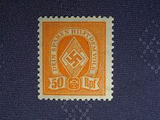 WWII German SUPER RARE ALL PURPOSE LIMITED 1933 - 45 STAMP 54 youth FULL GUM