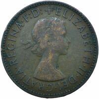 1954 HALF PENNY GB UK QUEEN ELIZABETH II. COLLECTIBLE COIN  #WT21665