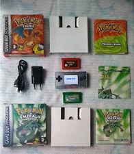 Nintendo Gameboy MICRO + CIB Pokemon EMERALD + CIB Pokemon FIRERED ! ORIGINAL !