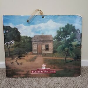 American Girl Kirsten Scene and Settings Background Backdrop Large Book Retired