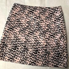 BDG Urban Outfitter M Mini Skirt Pink & Black Confetti Print Stretch Exposed Zip