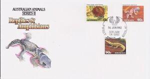 1982 Animals Series II - Reptiles & Amphibians FDC - FDI June Adelaide 5000 PMK