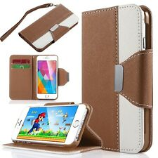 "PU Leather Card Slots Stand Case Wallet for iPhone 6/6S 4.7"" Brown"