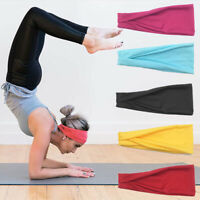 Women/Men Sports Sweatband Headband Yoga Gym Stretch Head/Hair Band Hair Acces