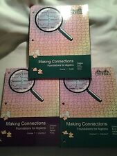 CPM Making Connections Foundations for Algebra Course 1 Vol 1 & 2 Plus Toolkit