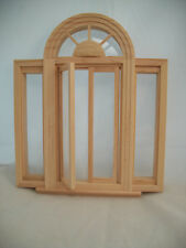 Window Circlehead Casement 5049  w/ trim dollhouse miniature wooden 1/12 scale
