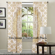 Mandala CURTAIN PANEL Set Exotic Floral Living Bed Room Window Art Drapes Decor