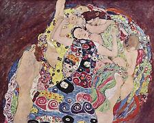 Gustav Klimt The Virgin Woman Painting 8x10 Real Canvas Art Print