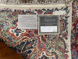 "Karastan Floral Kirman #742 Wool Rug 8'8"" X 12'"