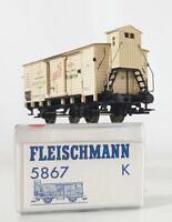 "FLEISCHMANN 5867 K HO - ROYAL PRUSSIAN KPEV ""AMICA"" REFRIGERATOR WAGON WITH CAB"