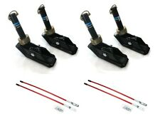(4) New Square SNOW PLOW SHOE SKID FOOT ASSEMBLIES w/ BLADE MARKERS Snowblade