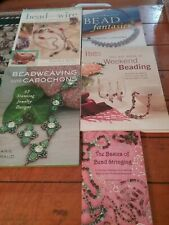 Lot Of 5 Beading Educational Books Basics To Advanced Design preowned
