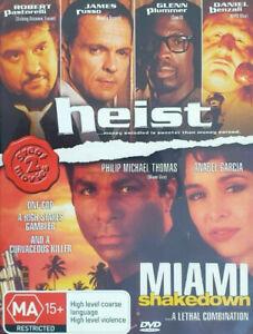 Miami Shakedown + Heist DVD 90's Action Movies 1993