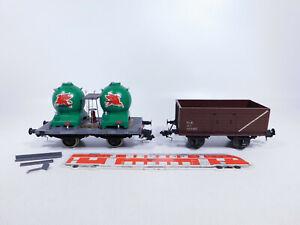 CP295-1# 2x Spur 0 Güterwagen Federpuffer: Silowagen etc, leichte Mängel