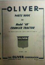Oliver Crawler Tractor A Ad Adh Parts Manual Cat Cletrac Diesel Dood Hercules