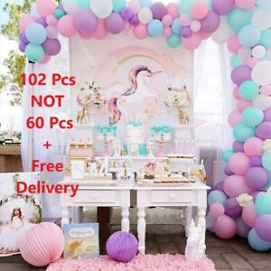 102 Pcs Balloon Arch Kit Garland Birthday Wedding Baby Shower UNICORN Party Pink