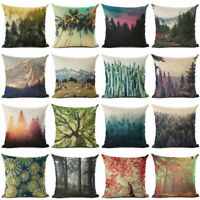 Cotton Pillow Forest Cushion Decor Fashion Natural Home Cover Linen Case 18''
