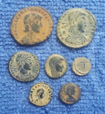 Lot 7 Genuine Ancient Roman Coins Sharp High Grade Quality Bronze Collection