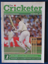 The Cricketer International Magazine - September 1986 - Martin Crowe Cover