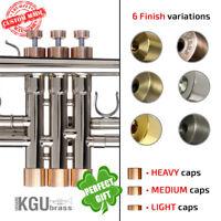 Yamaha Trumpet Trim kit. KGUBrass. All YTR models. Custom caps. finger buttons.