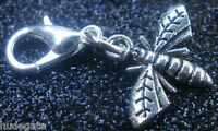 10 Silver Tone Bee Clip on Charms for Bracelets Wholesale Jewellery Job Lot